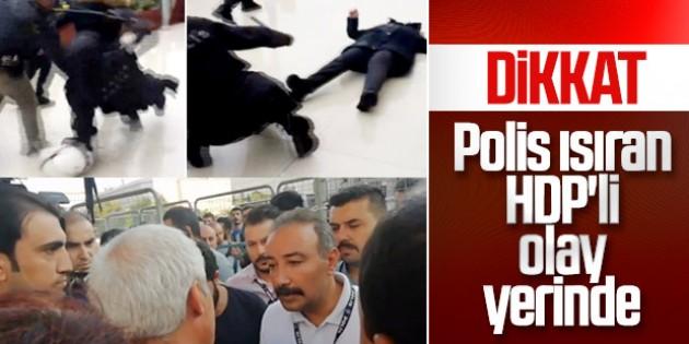 Polisi ısıran HDP'li vekilden kayyumlara tepki