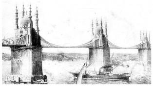 Şimdiki Fatih Sultan Mehmet köprüsünün ilk projesi