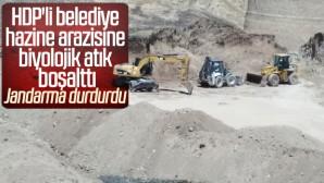 Diyarbakır belediyesi atığına jandarmadan müdahale