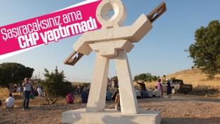 Elazığ'ın Keban ilçesine semah heykeli