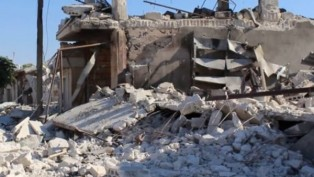 Idlib air strike again: 5 wounded, 4 dead