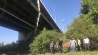 Kocaeli viyadükünden düşen kamyonda 1 kişi öldü.