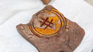 Yalova'da Bizans döneminden kalma Hashtag işareti