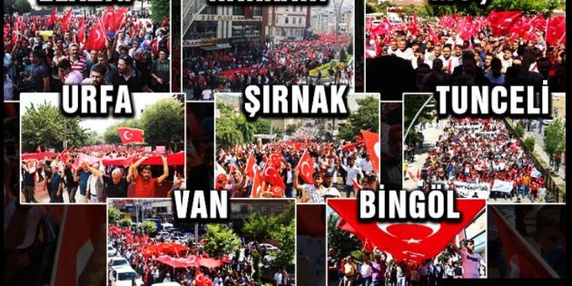 'Teröre Lanet için yürüdüler' 14 ilde halk sokaklarda!