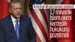 Erdoğan, Amerika'da Müslümanlarla bir araya geldi.
