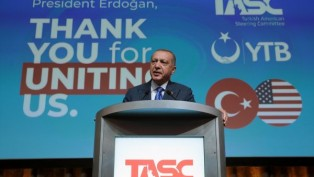 Erdogan met with Muslims in America.