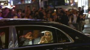 Cumhurbaşkanı Erdoğan ABD'de Türk Bayraklarıyla karşılandı