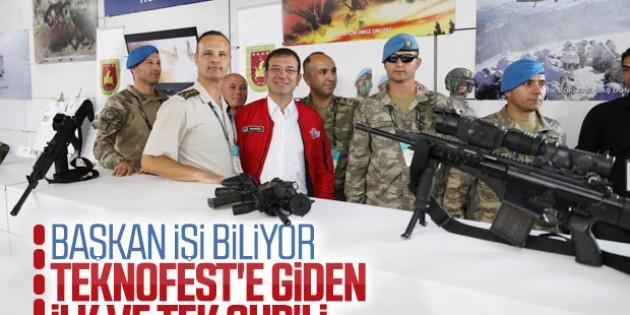 Ekrem İmamoğlu, TEKNOFEST'e katılan tek CHP'li!