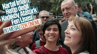 Erdoğan, Kadıköy Atatürk Fen Lisesi'nde
