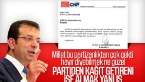 İmamoğlu, CHP'lilerin torpil ile işe alınmasını eleştirdi.