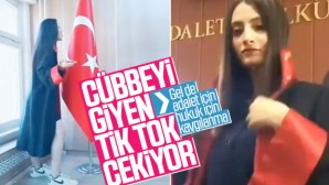Mahkeme salonunda çekilen TİK-TOK videoları pest dedirtti.