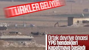 YPG/PKK, kazdıkları hendekleri ve tünelleri kapatıyor