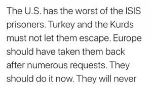 """ABD Başkanı Trump: """"AB DEAŞ militanlarını geri almalı"""""""