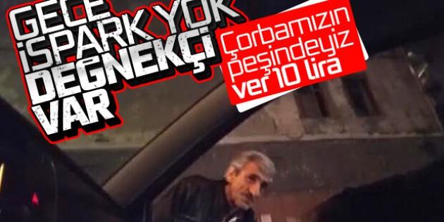 108 lira ceza kesilen değnekçiler yeniden iş başında