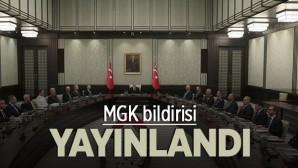 Kasım 2019 MGK bildirisi yayınlandı