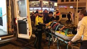 'Dur' ihtarına uymayan sürücü, polise çarptı