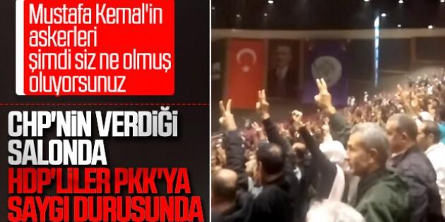 HDP Kongresinde teröristler için saygı duruşu yapıldı