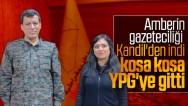 Amberin Zaman YPG'li teröristler ile hareket ediyor