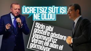 Erdoğan-İmamoğlu arasındaki ücretsiz süt tartışmaları