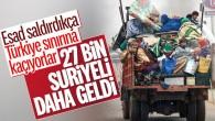 İdlib'den 27 bin kişi daha Türkiye sınırında