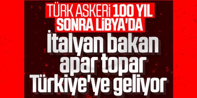 İtalya Dışişleri Bakanı Libya için Türkiye'ye geliyor