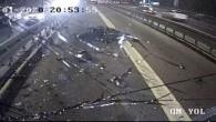 Metrobüs ile motosikletin kaza anı