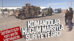 Suriye sınırına komando takviyesi.