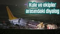 Uçak kazasında kule ve ekipler arasındaki diyalog