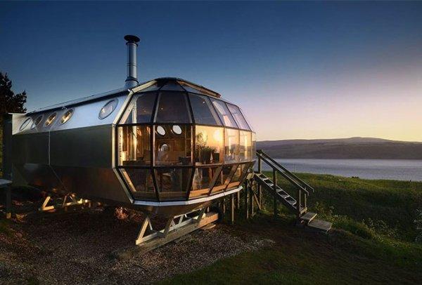 """İskoçya'nın Zeplin Evleri """"Gökyüzü Aşıkları"""" Fiyatı 220 Euro"""
