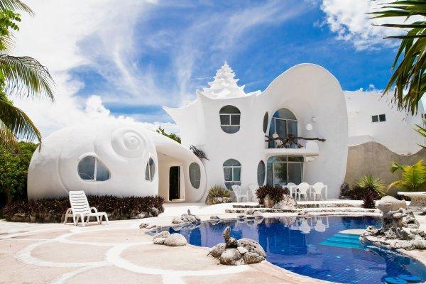 """Meksika'nın Casa Caracol Evleri """"Deniz Kabuğu Dünyası"""" Fiyatı 300 dolar"""