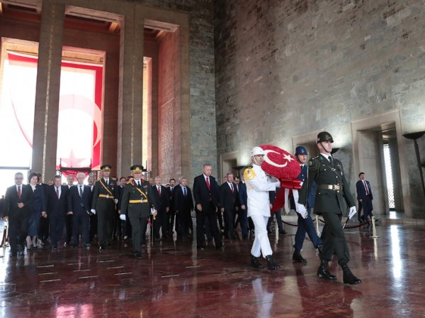Anıtkabir'de 30 Ağustos Zafer Bayramı Töreni