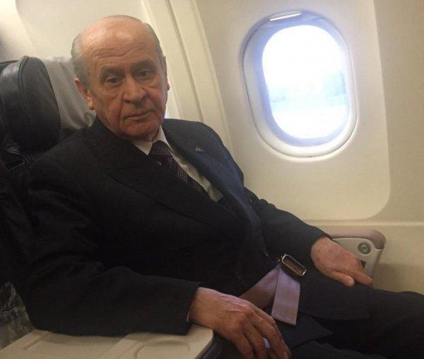 Devlet Bahçeli 4 yıl sonra yeniden uçağa bindi