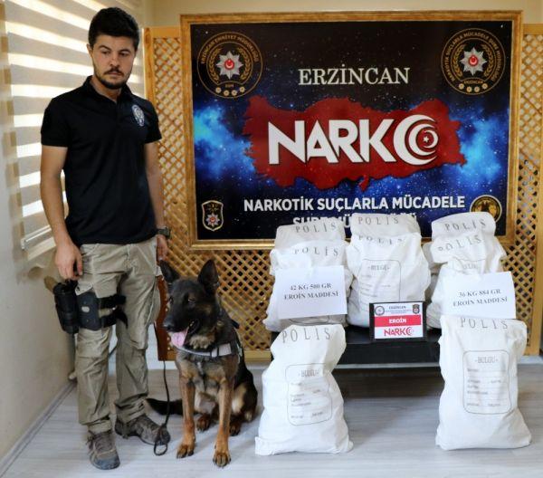 Erzincan'da 3,5 milyon lira değerinde eroin ele geçirildi