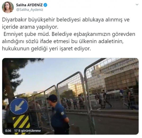 HDP'li Saliha Aydeniz Diyarbakır Büyükşehir Belediyesi önünde