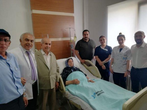 Kayseri'de 94 yaşındaki kadın kanseri yendi
