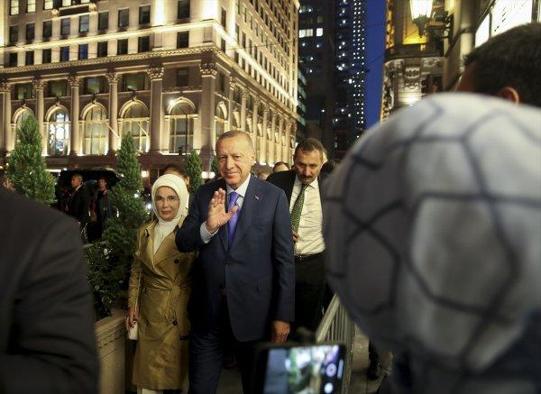 Cumhurbaşkanı Erdoğan'a ABD'de coşkulu karşılama