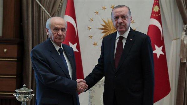 Cumhurbaşkanı Erdoğan'dan Bahçeli'ye geçmiş olsun telefon