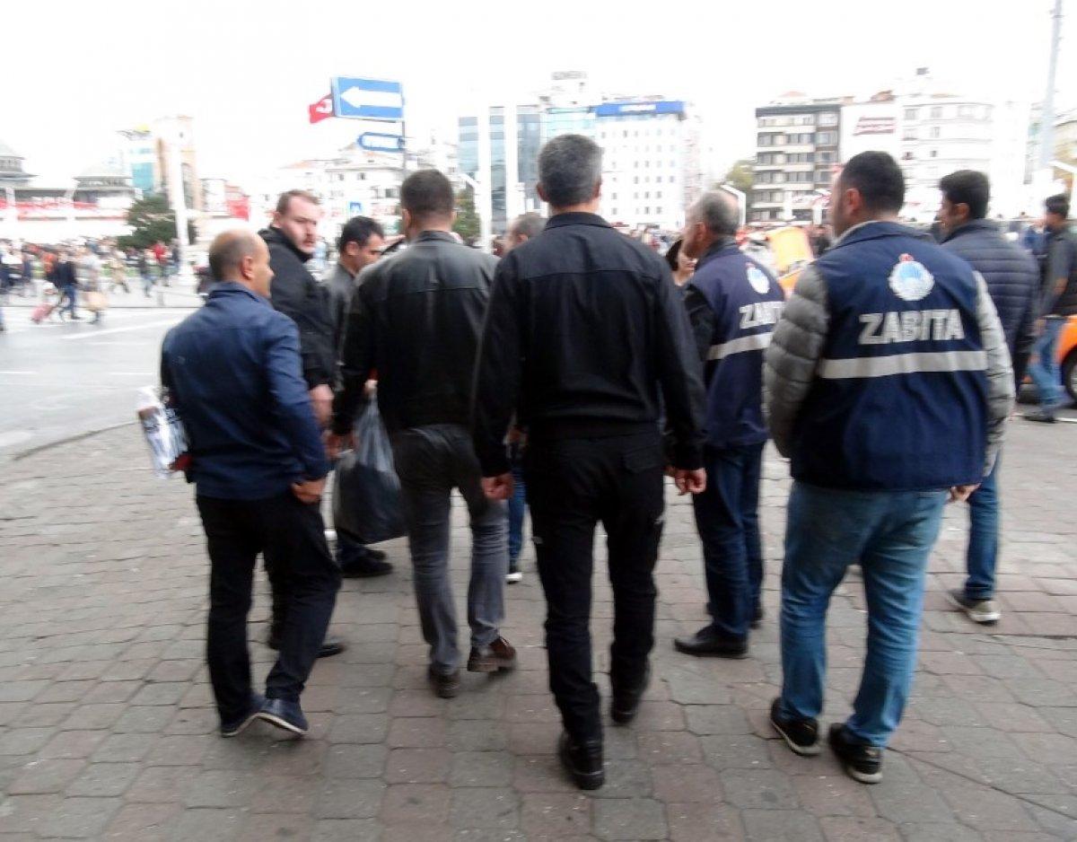 Yakalanan dilenciden beddua ve saldırı