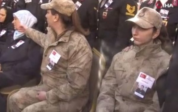 Bomba imha uzmanı şehit Esra Çevik'e veda