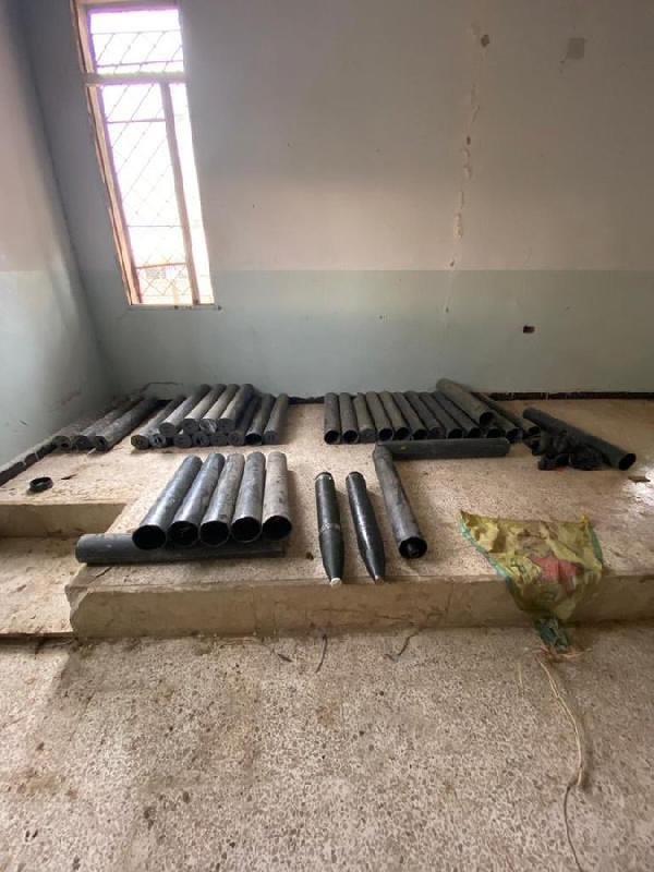 Tel Abyad kırsalında 39 Katyuşa roketi ele geçirildi