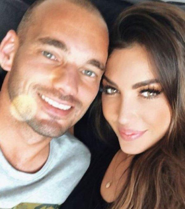 Wesley Sneijder ile Yolanthe Cabau barıştı