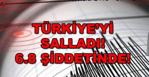 6.8 şiddetinde deprem. Merkez üssü Elazığ ve Malatya!
