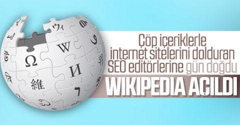 Wikipedia'ya artık erişime sağlanıyor.
