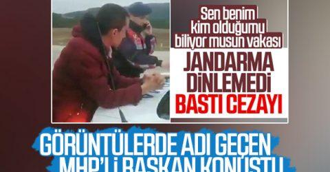 MHP'den açıklama; Jandarmayı tehdit eden kişi…